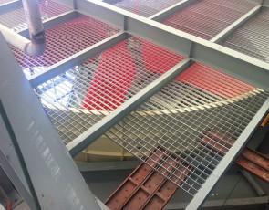 钢格板吊顶案例
